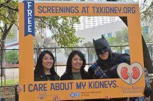photo frame with batman at Big Give Pep Rally